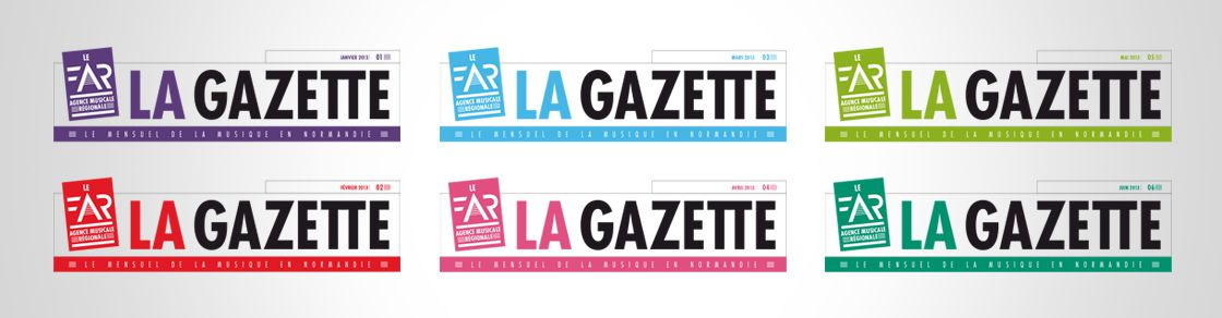 Déclinaisons du logo La Gazette